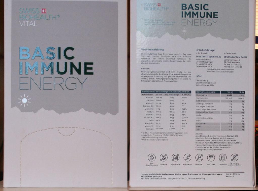 Basic Immune Energy