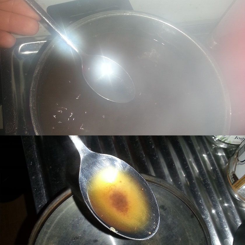 Det går an å ta en smak av enemakaffen for å sjekke om det er bra med salt.