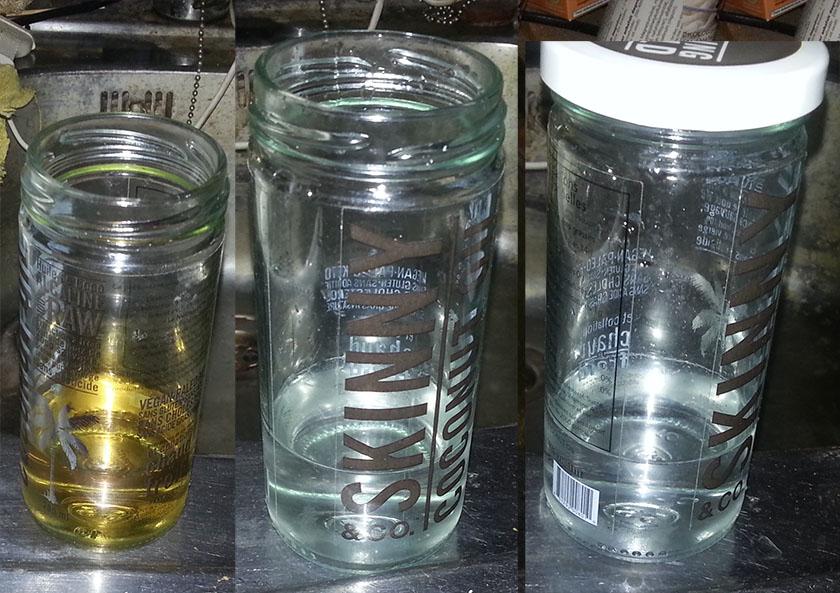 Urinterapi eksempel 2. Til høyre er 2. utblanding.