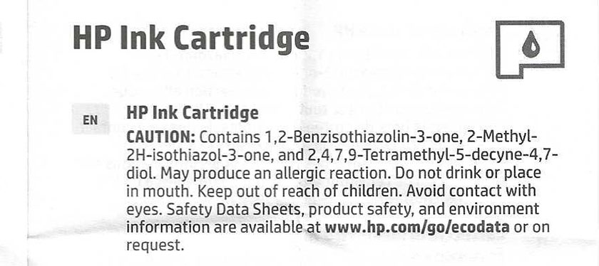 Printerblekk kjemikalier HP OfficeJet 8025.