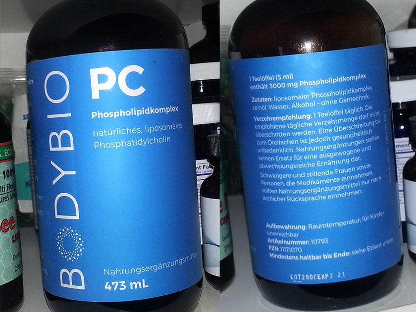 BodyBio PC (phosphatidylcholine), ny etikett. Jeg kjøpte denne på centrosan.de (centrosan.com)