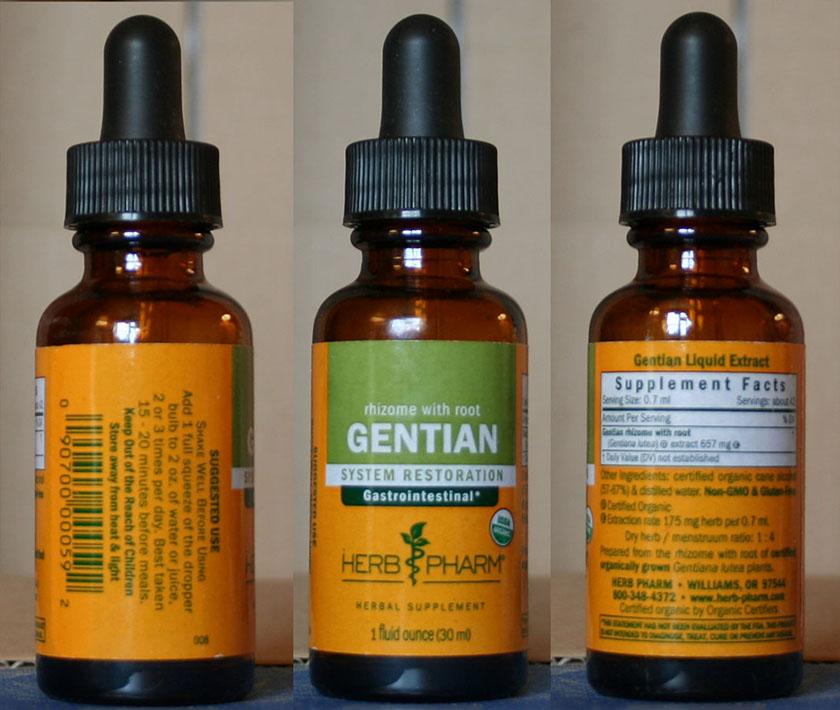 Gentian - en velkjent bitterurt. Kan inngå i push-catch protokollen.