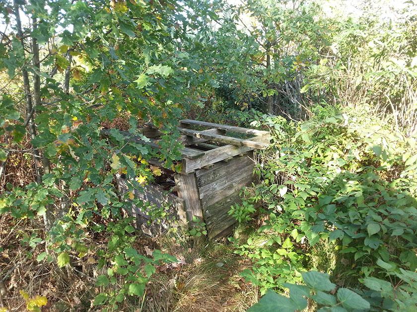 Den gamle kompostbingen.