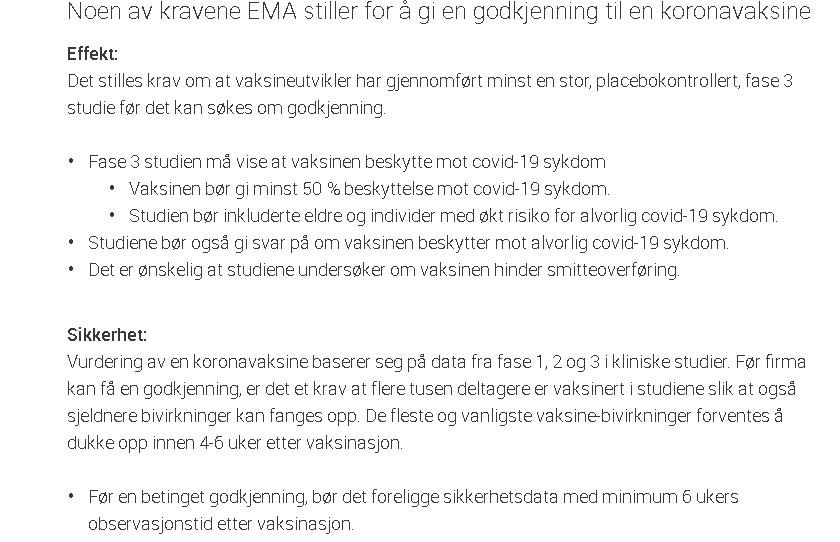 Comirnaty EMA og Legemiddelverket godkjennelse, tekst02.