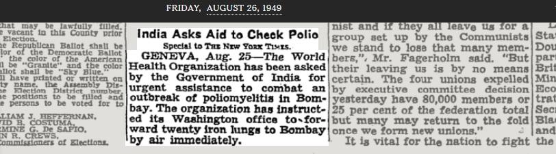 Bombay poliomyelitt.
