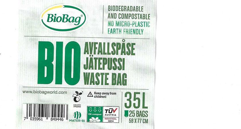 BioBag merking av rull